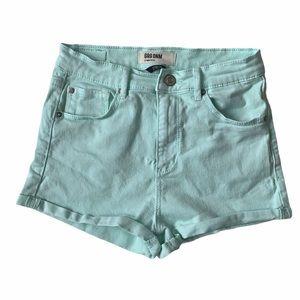 Garage Denim Retro High Waist Shorts